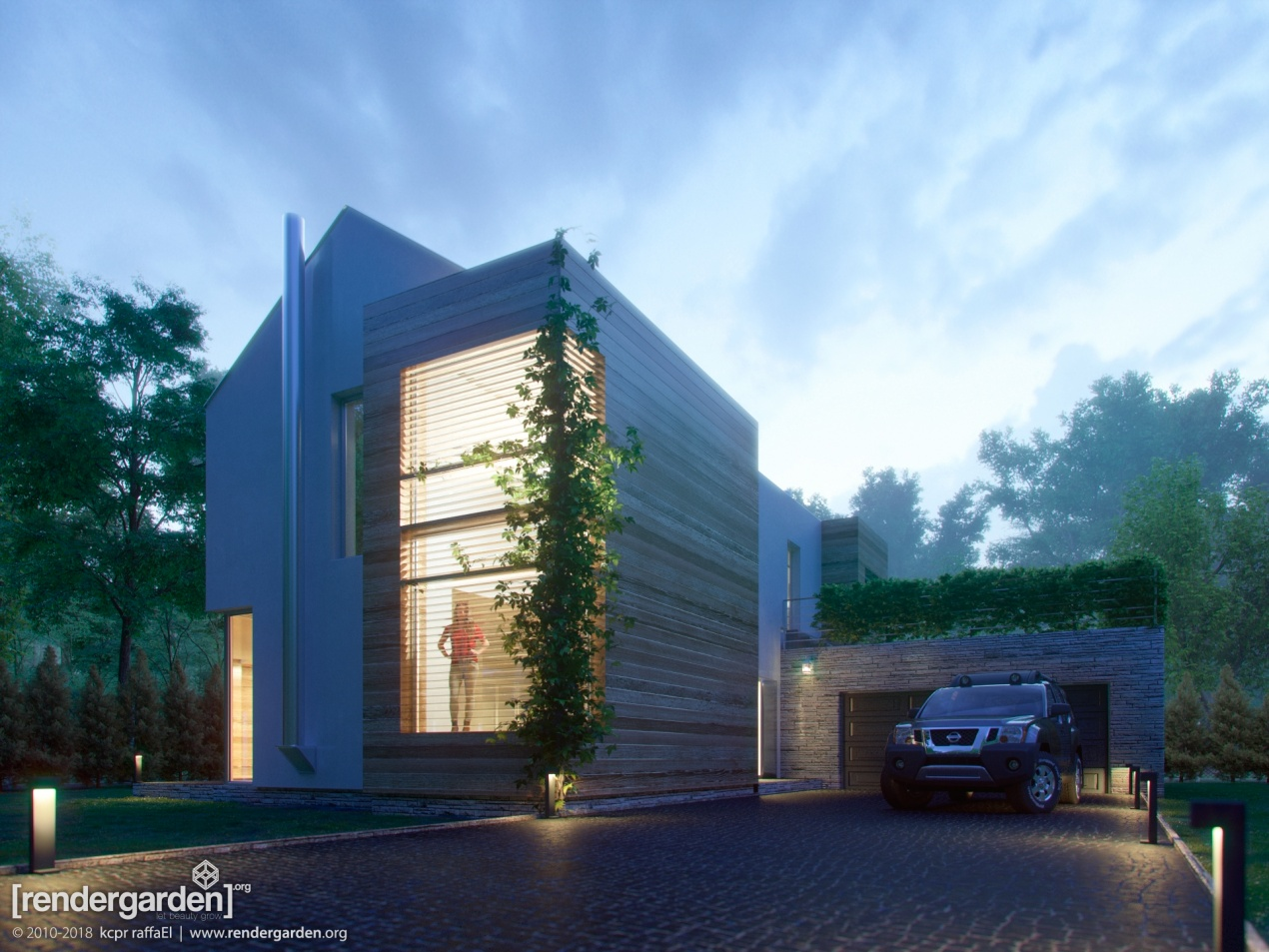 Passive House GS 178 - Evening shot