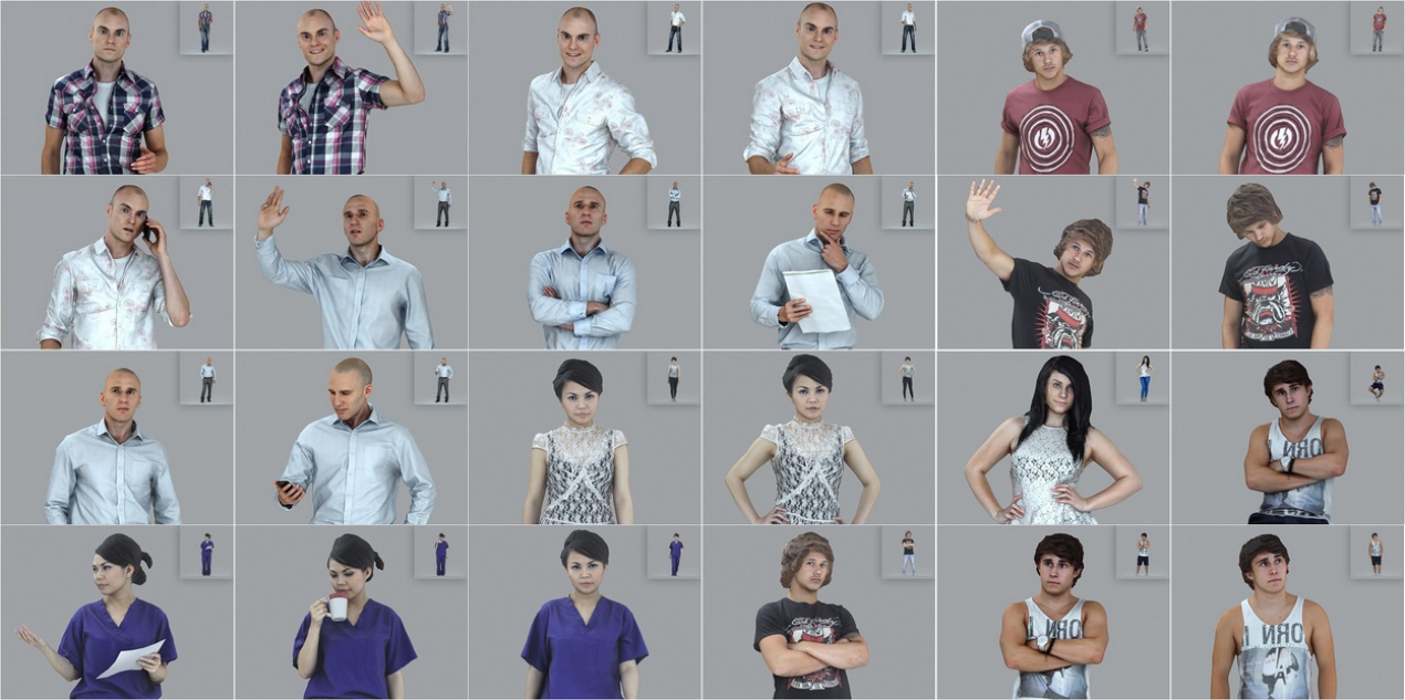 Top-quality 3D models of people from AXYZ design