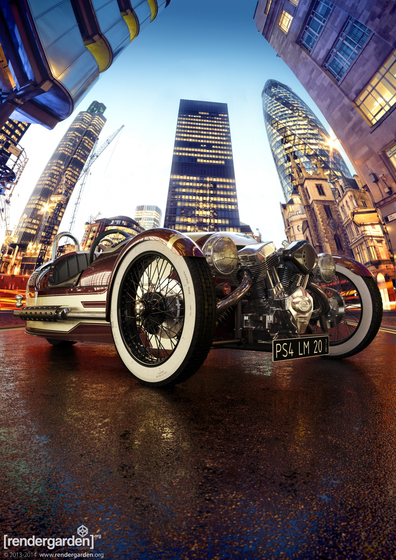 Morgan 3 Wheeler - Visualization for Morgan Motors Company, Autodesk and HP Competition