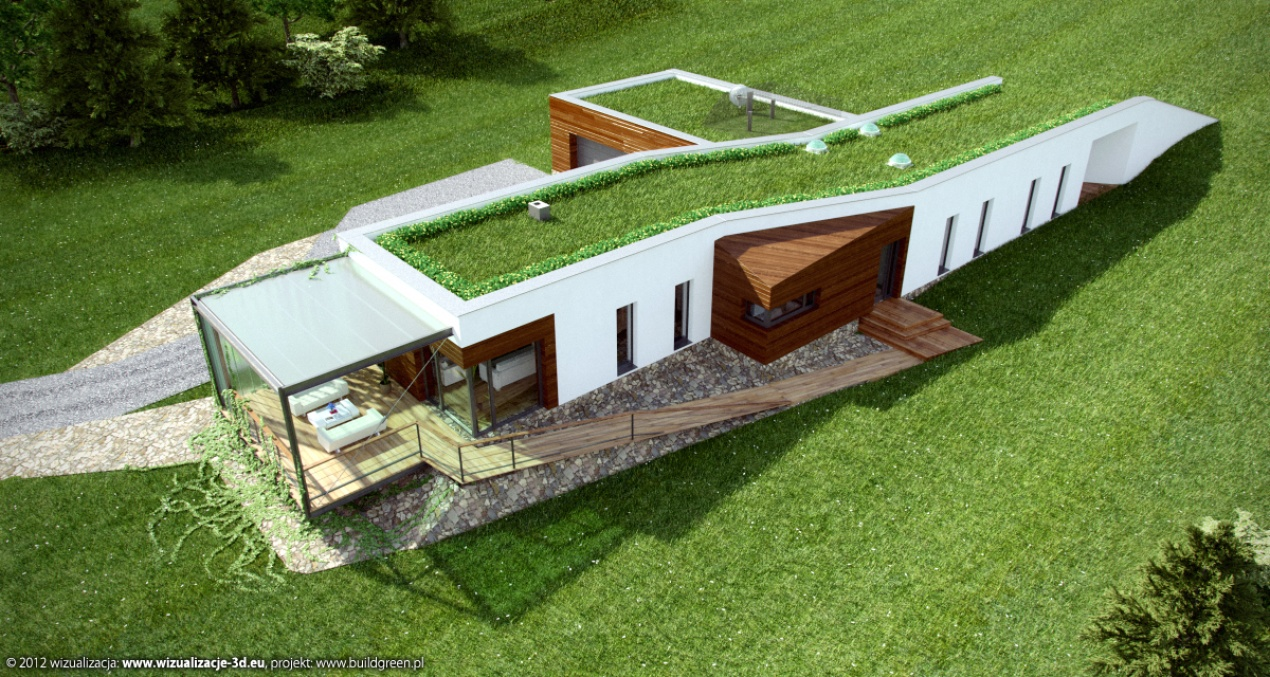 Eco-Passive House in Bieszczady - Aerial View