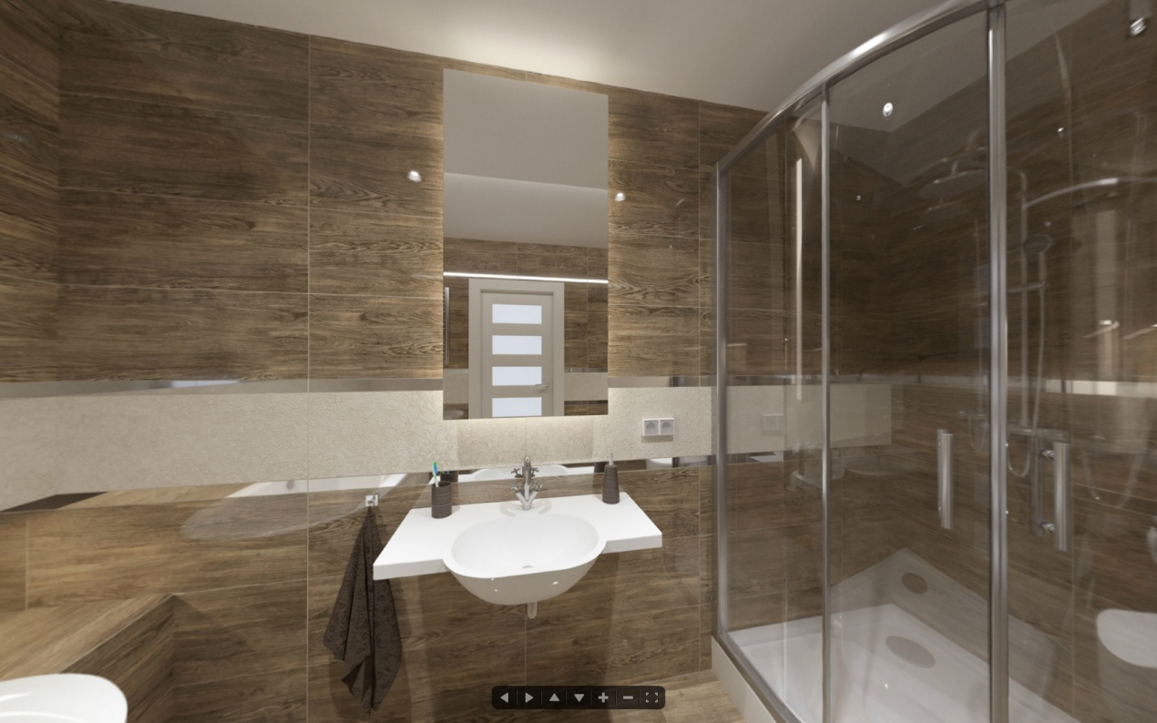 360 Degree Panorama - TUBADZIN Bathroom Interior
