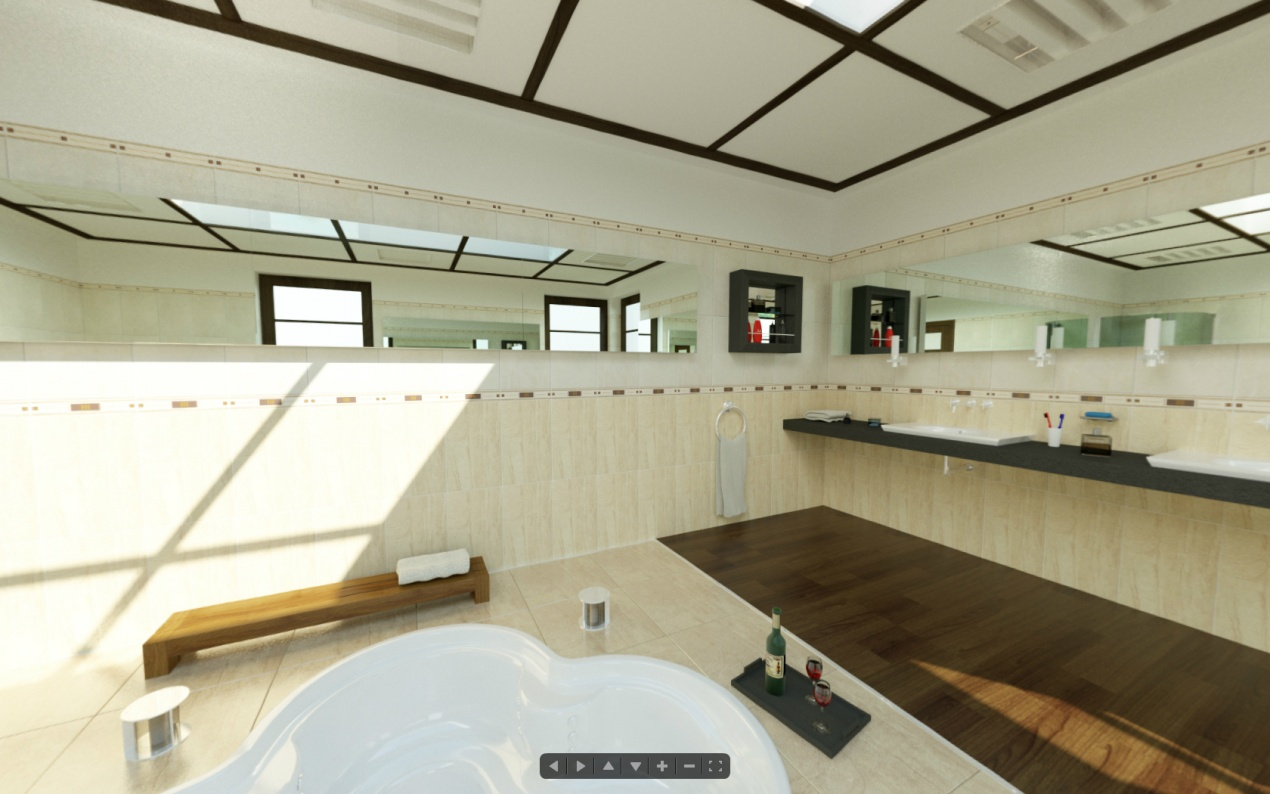 360 Degree Panorama - Bathroom Interior