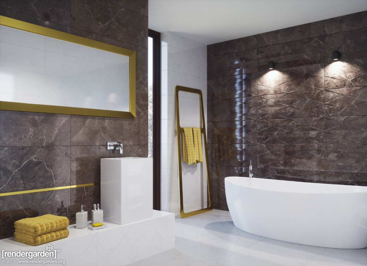 Bathroom Interior with EVO CHISA tiles