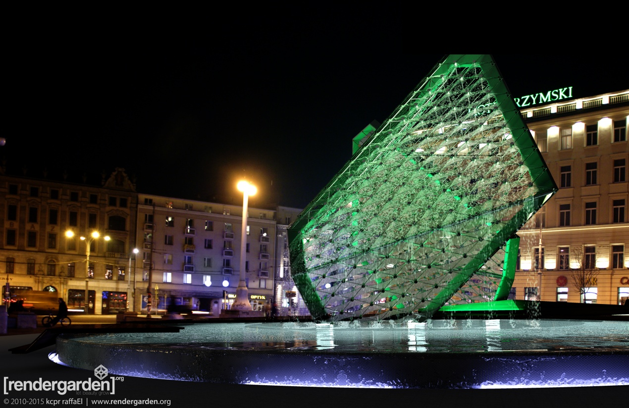 """Fountain of Freedom"" - Freedom Square in Poznan, By Night"