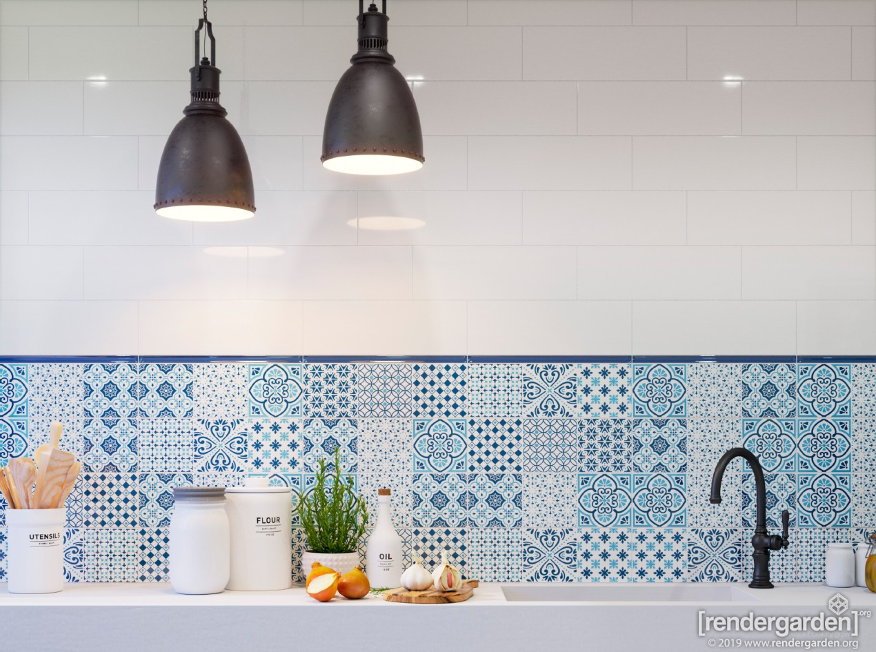 Bathroom Interior with AVIGNON tiles
