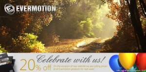 20% OFF for all Evermotion files till 9th of September