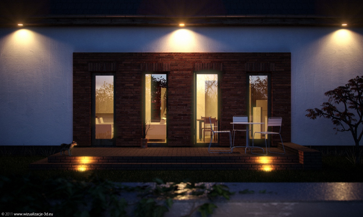 House in Mosina by Night