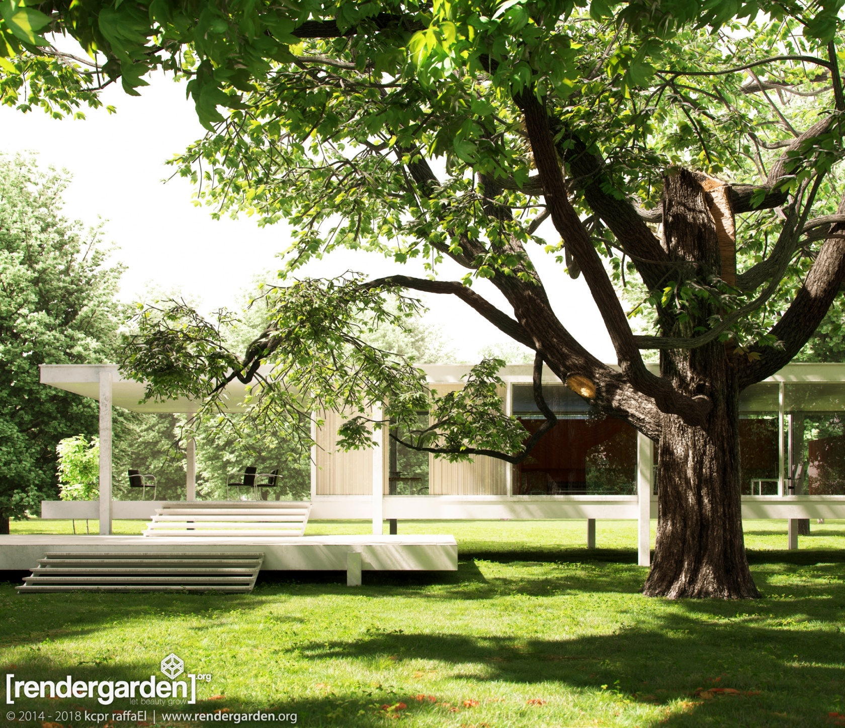 farnsworth house our cgtalk lighting competition entry