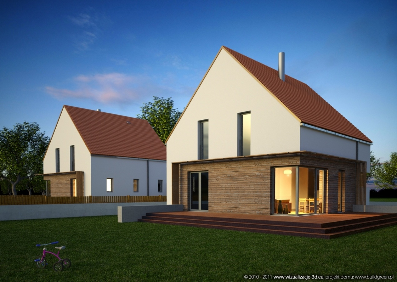 "Passive House - ""Masurian"" by Evening"
