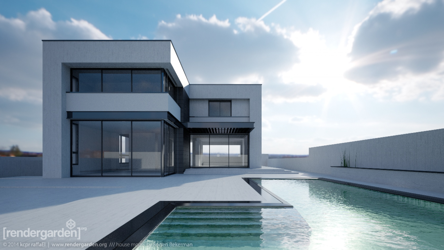 Mixing hdri image and mr physical sky in iray for House images free download