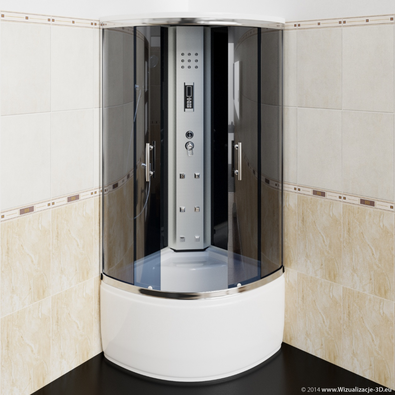 Modelling & Visualizations of shower cabins