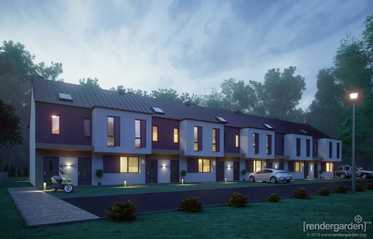 Visualization of Modern Residential Building - by Night