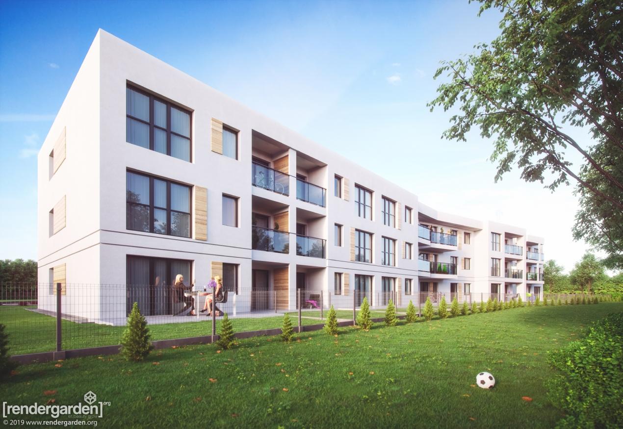 Wizualizacja Budynku Mieszkalnego w Rzeszowie - Ogródki