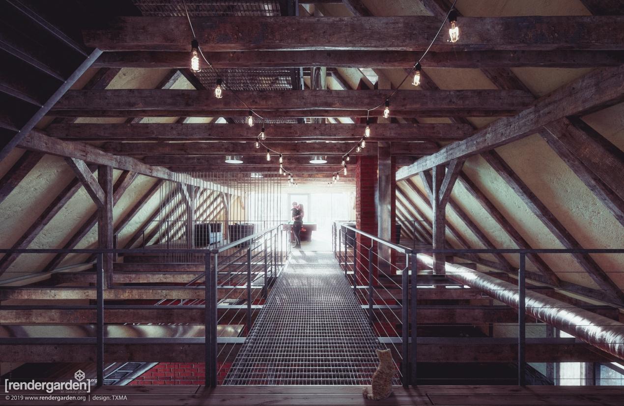 Villa Greta - Visualization of revitalised interior