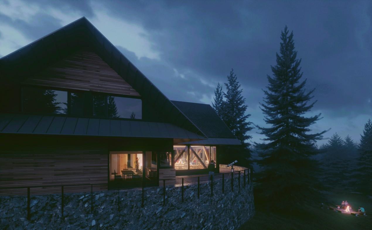 Eco House in Swieradow Zdroj - by Night