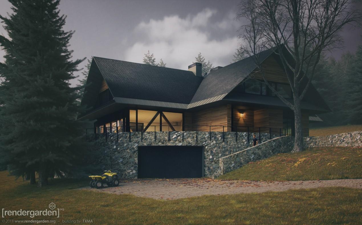 Dom Ekologiczny, Świeradów Zdrój - Jesień