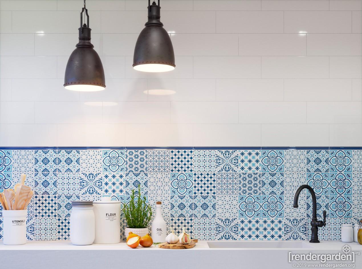 Bathroom Interior with AVIGNON tiles