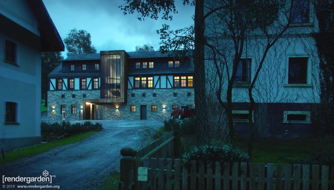 Villa Greta - Visualization of new buiding - by Night