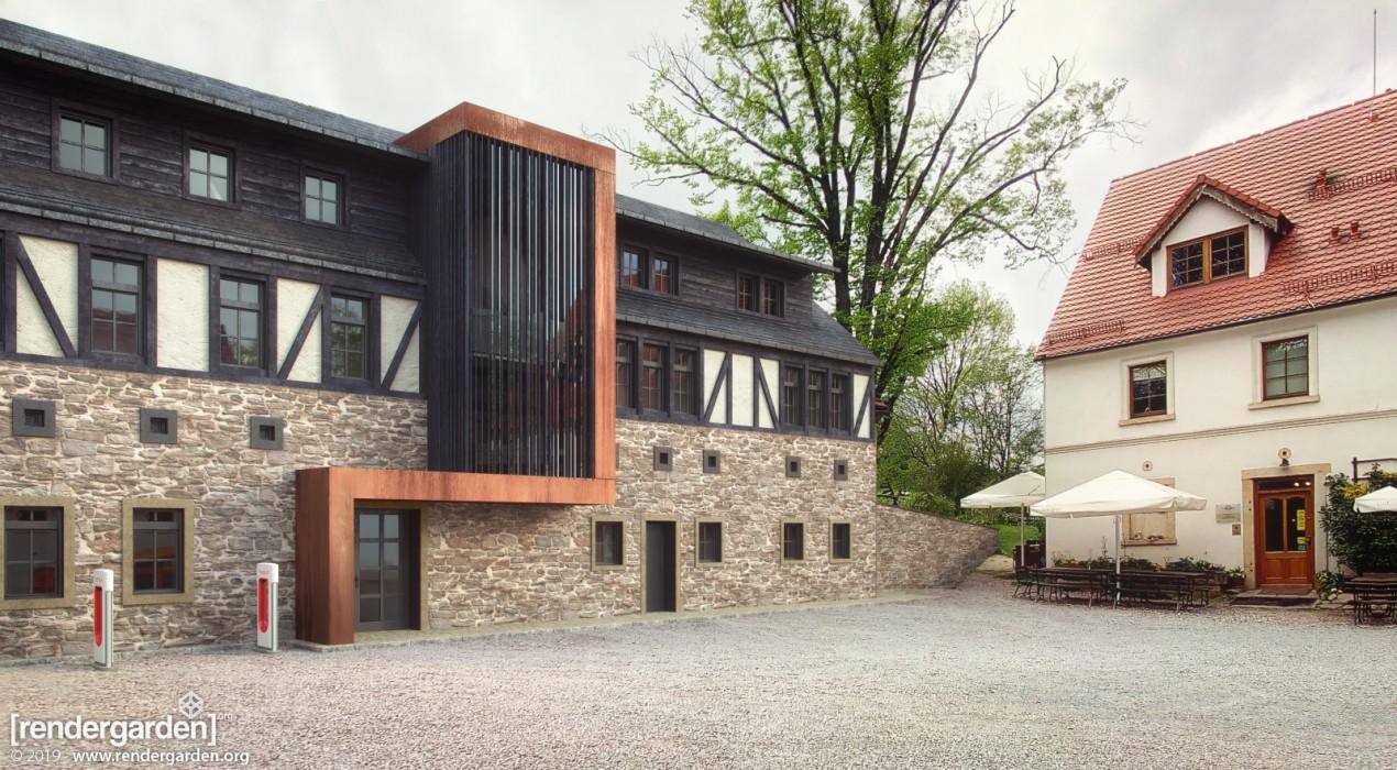 Villa Greta - Visualization of new buiding - the Hotel