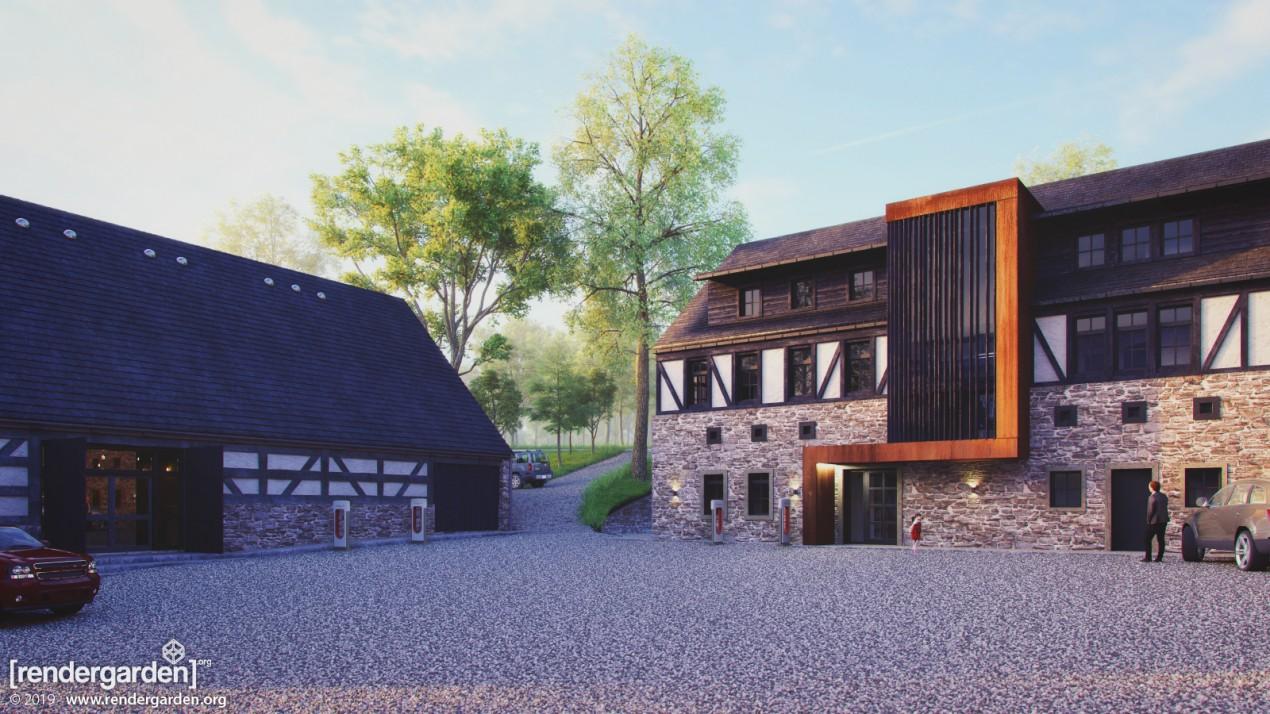 Villa Greta - Visualization of new buiding